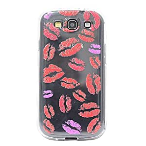 ZCL Transparent Red Lips TPU Back Case for Samsung Galaxy S3 I9300
