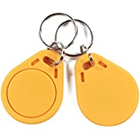 ISO14443A MIFARE Classic 1K RFID ABS Key Fob 13.56MHz - Color Yellow (Pack of 100)