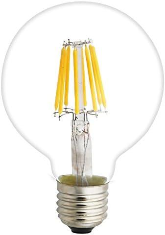 15 Pack 8W E27 Nicht Dimmbar LED Edison Lampe G80 Globe Vintage Filament Globusform Glühbirne Deko Retro Birne 2200K mit Braunglas,Ideal für Nostalgie und Antik Beleuchtung
