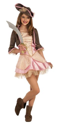 Rubie's Costume Co Pale Pink Pirate Costume, (Pale Pink Pirate Teen Costumes)