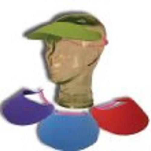 Lot Of 12 Assorted Color Foam Adjustable Visors