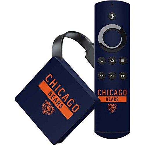 (Skinit NFL Chicago Bears Amazon Fire TV Skin - Chicago Bears Blue Performance Series Design - Ultra Thin, Lightweight Vinyl Decal Protection)