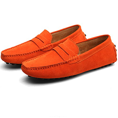 Mocassini Orange Hishoes Hishoes uomo Mocassini uomo xqvatXw0c