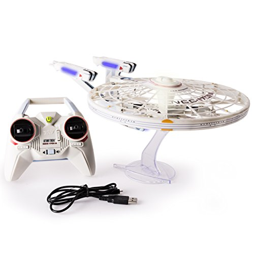 Air Hogs, Star Trek U.S.S Enterprise NCC-1701-A, Remote Control Drone with Lights and Sounds, 2.4 GHZ, 4 Channel]()
