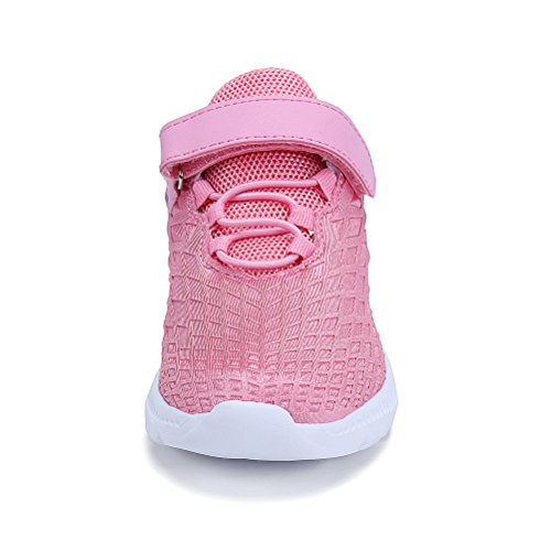 AFFINEST Boys Girls Lightweight Sneakers Athletic Easy Walk Casual Sport Running Shoes for Kids(Pink,26) by AFFINEST (Image #5)