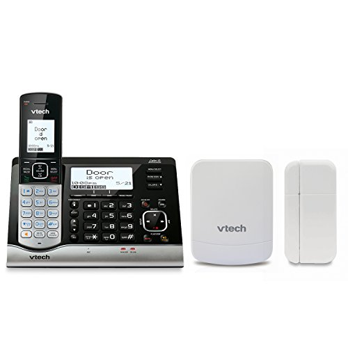 VTech VC7151-109 DECT 6.0 Cordless Telephone with Wireless Monitoring System, Garage Door Sensor, and Open/Closed Sensor for Doors or Windows from VTech