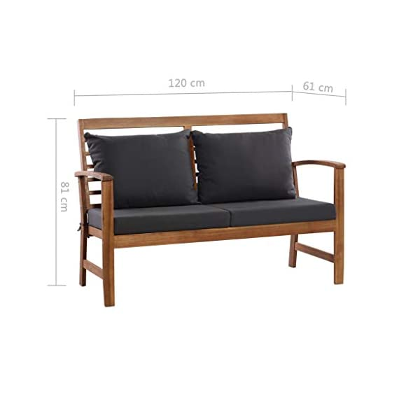Festnight Outdoor Wood Garden Sofa Set 4 Piece Patio Wood Furniture Set  Solid Acacia Wood