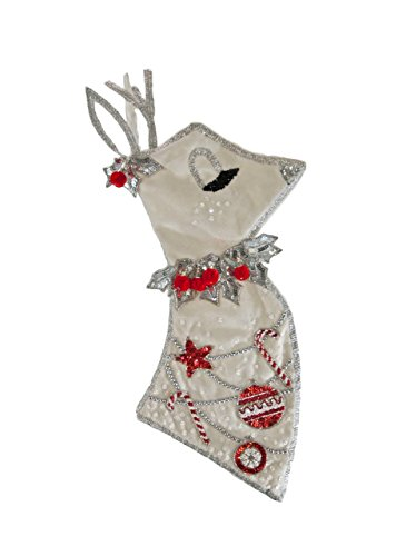 Katherine's Collection Sequin Reindeer Christmas Stocking - Katherines Collection Christmas Stocking