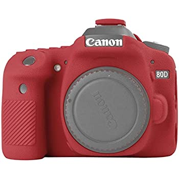 Amazon.com : easyCover ECC80DR Canon 80D Case, Red : Camera ...