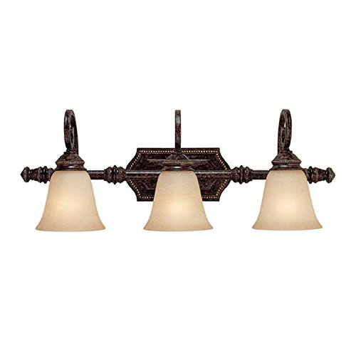Capital Lighting 1523CB-287 Vanity with Mist Scavo Glass Shades, Chesterfield Brown - Scavo Mist Glass