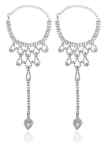 Inexpensive Wedding Jewelry - Bienvenu Women Barefoot Sandals Beach Foot Jewelry Wedding Chain,Sliver_2
