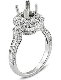 2.00 Carat (Ctw) 18k White Gold Round Diamond Ladies Bridal Semi Mount Ring (No Center Stone)