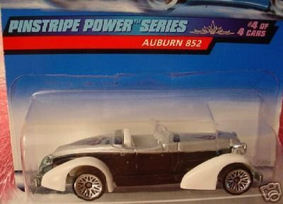 Mattel Hot Wheels 1999 1:64 Scale Pinstripe Power Series Black & White Auburn 852 Die Cast Car 4/4 - Pro Rodz Series
