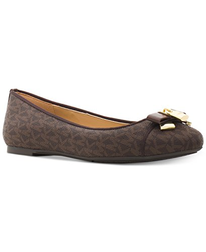Michael Kors Flat Shoes (Michael Kors Women's Designer Alice Ballet Flats (9, Brown))