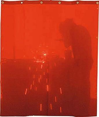 SOLTER - Cortina de protección para soldadura, 1400 x 1400 mm, color naranja: Amazon.es: Industria, empresas y ciencia