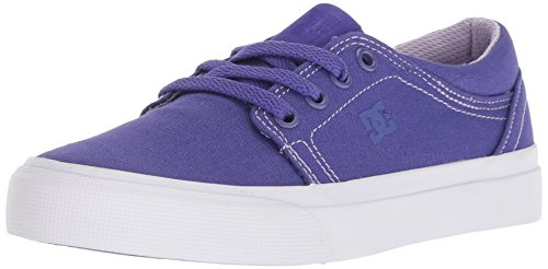 DC Girls' Trase TX Skate Shoe, Purple Rain, 3.5 M M US Big (Purple Dc Shoes)