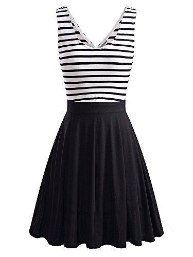 HuHot Womens Sleeveless Black Striped product image