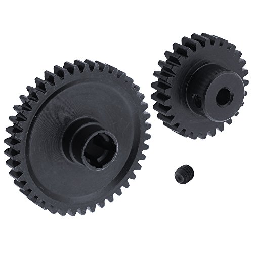 Hobbypark Metal Diff Differential Main Gear 42T & Motor Pinion Gear 27T Set For WLtoys A959-B A969-B A979-B K929-B 1/18 Scale RC Car Upgrade Parts ()