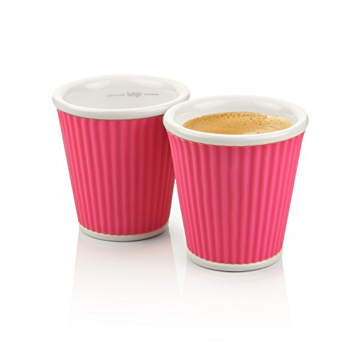 Les Artistes 3-Ounce Espresso Cups, 2-Pack, Pink