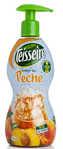 Teisseire French Syrup Peach Large hard plastic bottle 750ml 25.4fl.oz