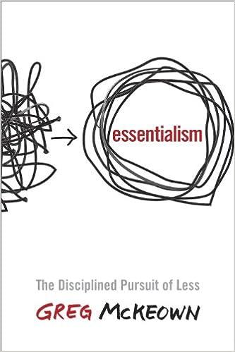 Amazon Fr Essentialism The Disciplined Pursuit Of Less