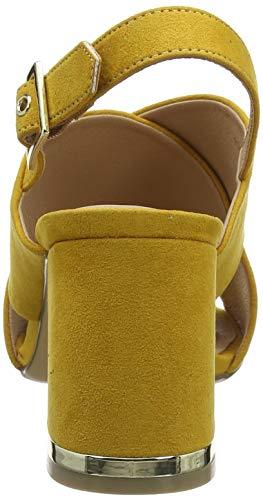 Tacco 87 Scarpe Col Giallo Aperta Punta Look Yellow Tootsie dark Donna New IFHxpfF