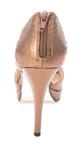 E! Live From The Red Carpet Womens E0028 Open Toe Platform Pumps Bronze Novelty Ua9zoE