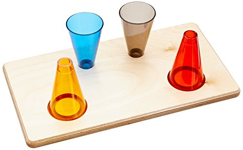 Rolyan Stacking Cones and Wooden Base, Set of 30 Activity Cones with Acrylic Colors and Base for Exercises for Occupational Therapy, Physical Therapy, Perception, and Coordination by Rolyan (Image #3)
