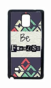 Be Fearless Snap-on Hard Back Case Cover Shell for Samsung Galaxy Note 4 -3924