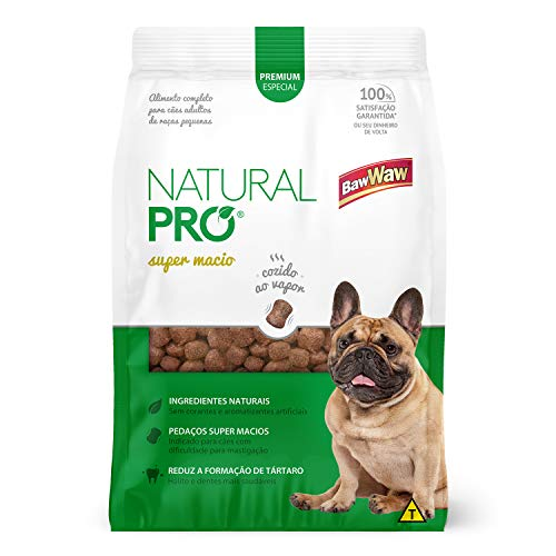 Baw Waw Natural Pró Alimento Super Macio  Para Cães Adulto Rpm - 12x400g