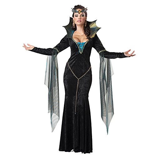 California Costumes Women's Evil Sorceress Adult, Black/Turquoise, -