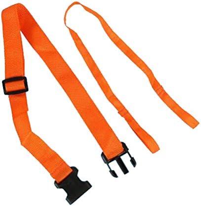 LIOOBO ウォータースポーツ安全ベルト緊急用救命浮輪牽引ロープフロートブイ救命浮環用安全ベルト(オレンジ)