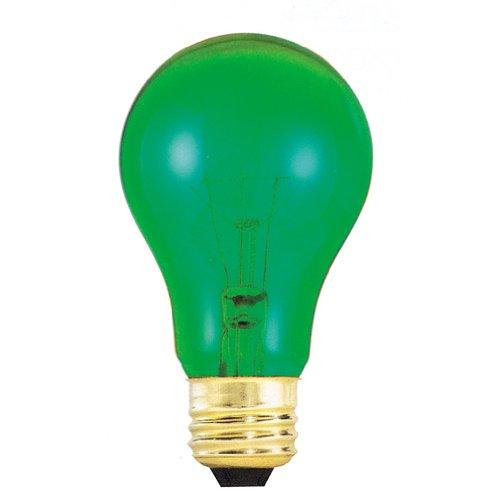 Bulbrite 105425 25W Transparent Green A19 Bulb
