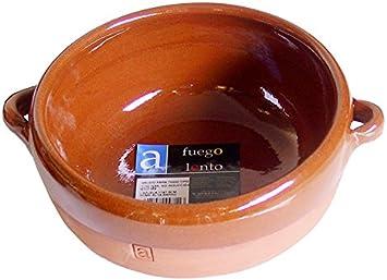 A Fuego Lento Cazuela Abombada Horno, Barro, Miel, 17 cm