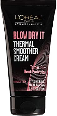 L'Oreal Paris Hair Care Advanced Hairstyle Blow Dry It Thermal Smoother Cream\, 5.1 Fluid O