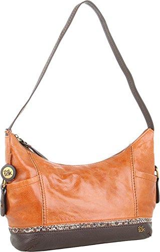 Leather One Shoulder Handbag - The Sak Kendra Hobo Shoulder Bag,Brown Snake Multi,One Size