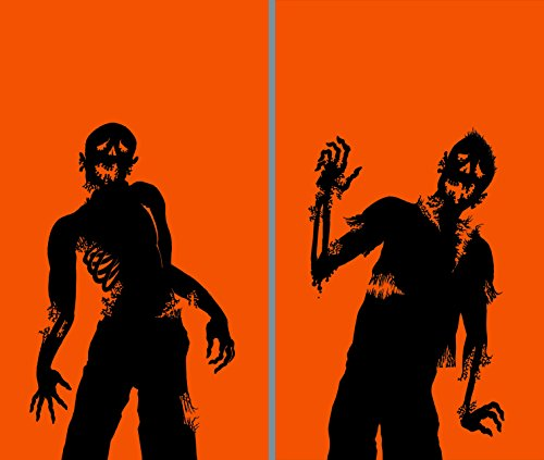 WOWindow Posters Ghoulies Silhouettes Halloween Window Decoration Two 34.5