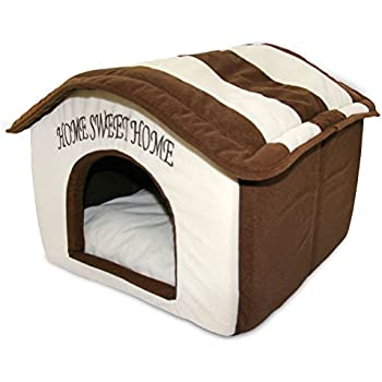 Amazon Com Super Nice Brown Indoor Soft Dog House Pets