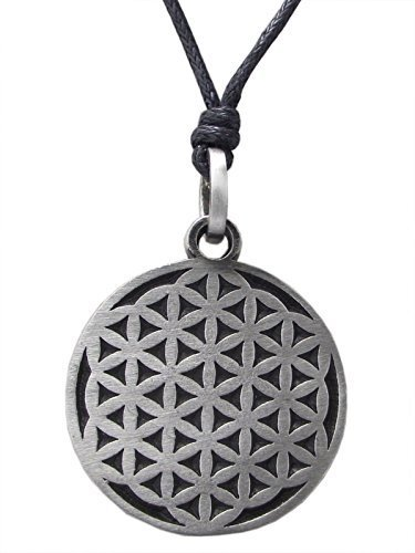 Pewter flower of life pendant on black cord necklace nickel free pewter flower of life pendant on black cord necklace nickel free bmth celtic aloadofball Choice Image