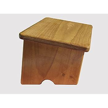 Amazon Com Kr Ideas Foot Stool Poplar Wood Maple Stain 7