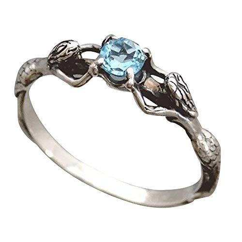 - bjlongyi Women's Fashion Ring,Sparkling Faux Topaz Hollow Finger Ring Wedding Engagement Finger Jewelry US 6