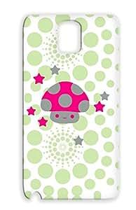 Kawaii Cute Stars Art Design Lucky Beggar Monster Star Mushroom Fungal Fantasy Gray For Sumsang Galaxy Note 3 Mushroom Case Cover