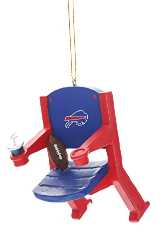 Team Sports America NFL Buffalo Bills Stadium Chair Christmas Ornament, Small, Multicolored (Buffalo Bills Ornaments)
