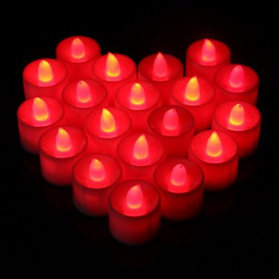 M.best 24pcs LED Tealight Battery Operated Light Flameless LED Tealight Tea Candles Light for Wedding Birthday Christmas Party decoration (Blue)