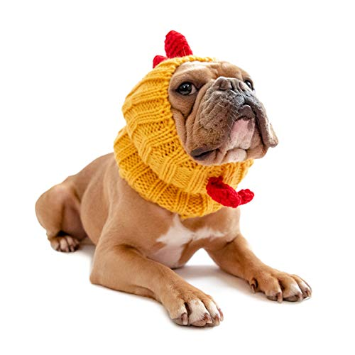 Zoo Snoods Rooster Chicken Dog Costume - Neck and Ear Warmer Headband (Medium)