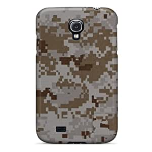 Samsung Galaxy S4 IFT7313pljQ Support Personal Customs High Resolution Camo Desert Digital Skin Scratch Resistant Cell-phone Hard Covers -AlissaDubois