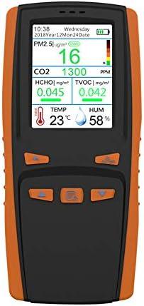 KKmoon Luftqualität Messgerät Luftqualitätsanalysegerät HCHO TVOC PM2.5 CO2 AQI Detektor Multifunktions präzises Testen für Häuser, Autos und im Freien