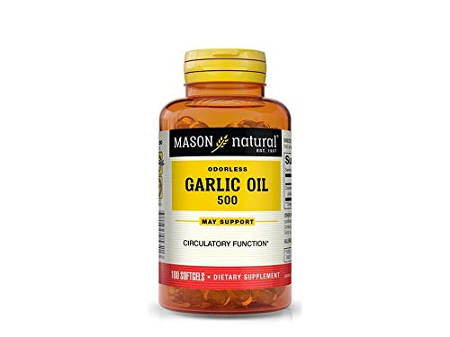 Mason Natural Garlic Oil 500mg Odorless Softgels – 100 Ea Review