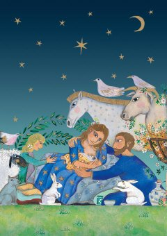 Nativity Scene Christmas Card (Nativity Scene Christmas Cards - Set of 10 Cards and Envelopes)