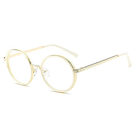 Juleya Hombres de las mujeres gafas redondas - Anti azul claro claro ...